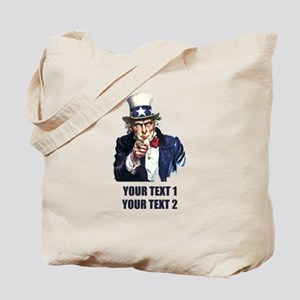 [Your text] Uncle Sam Tote Bag